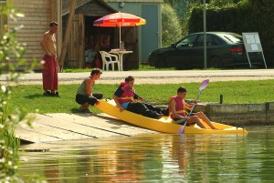 Canoë Kayak a la base de loisirs de Bonzée en Meuse Lorraine